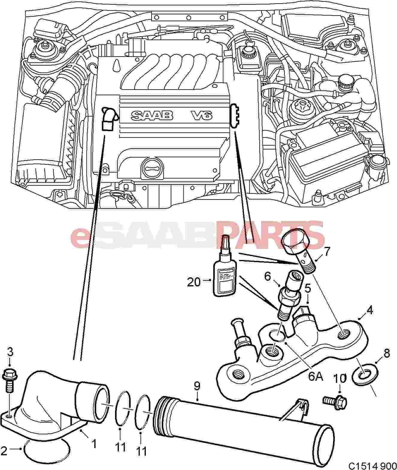 Saab Engine Coolant Temperature Sensor