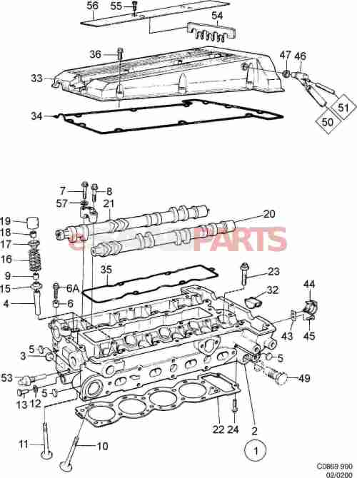 small resolution of 8822041 saab valve cover gasket kit genuine saab parts from egr valve 150 scooters valve cover diagram