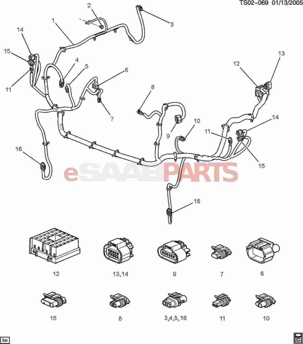 medium resolution of esaabparts com saab 9 7x electrical parts wiring harness wiring harness front lamps