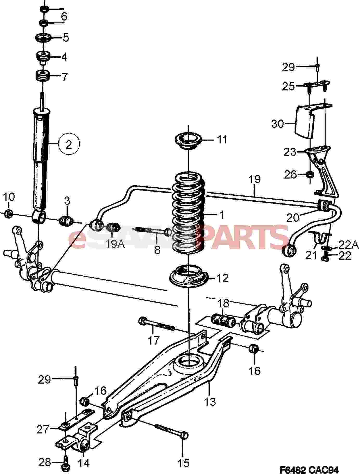 Saab Shock Absorber Kit