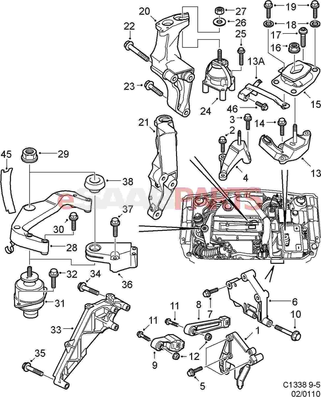 hight resolution of saab 9 5 engine diagram schematic wiring diagrams u2022 rh arcomics co saab 9 5 3 0