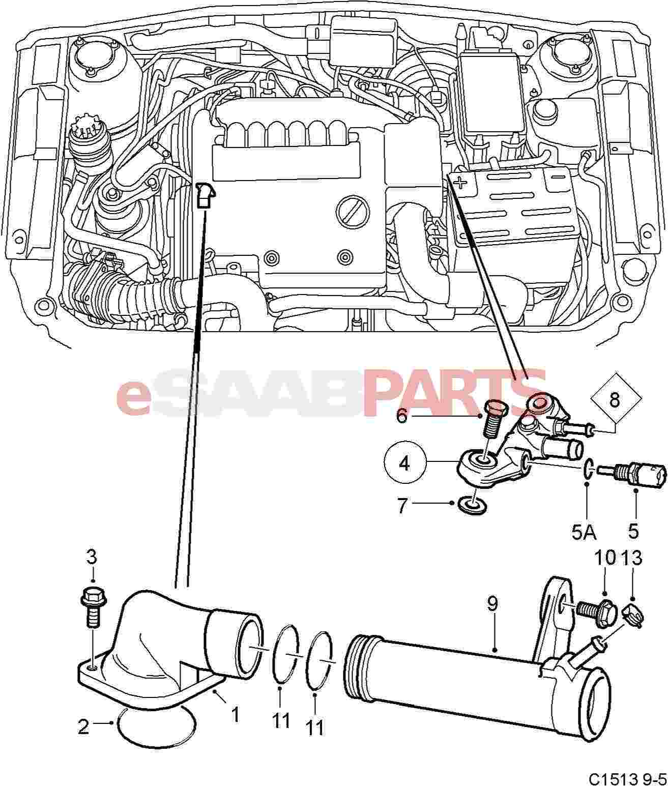 Saab 9 5 Coolant Temp Sensor Location