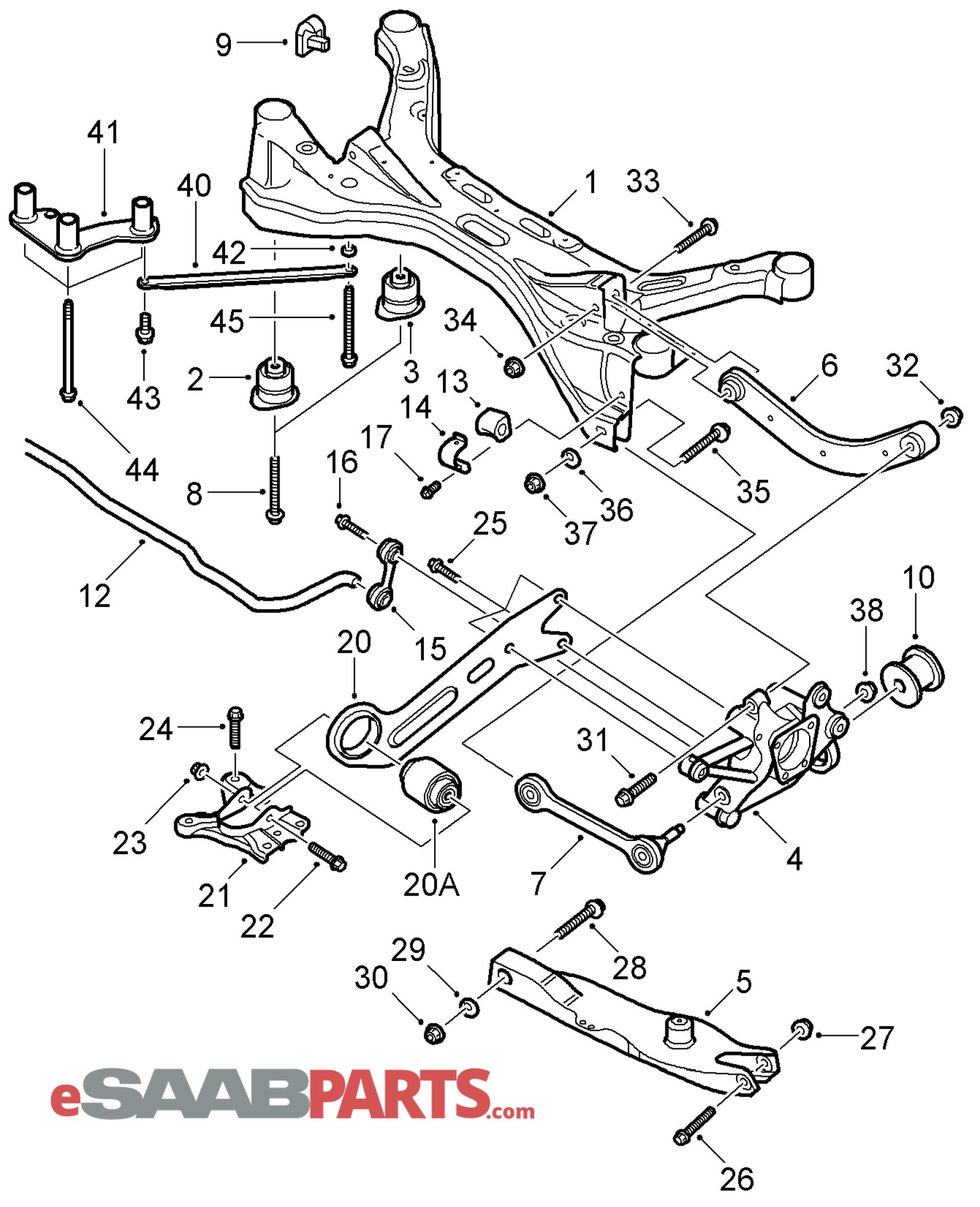 Saab Control Arm Upper