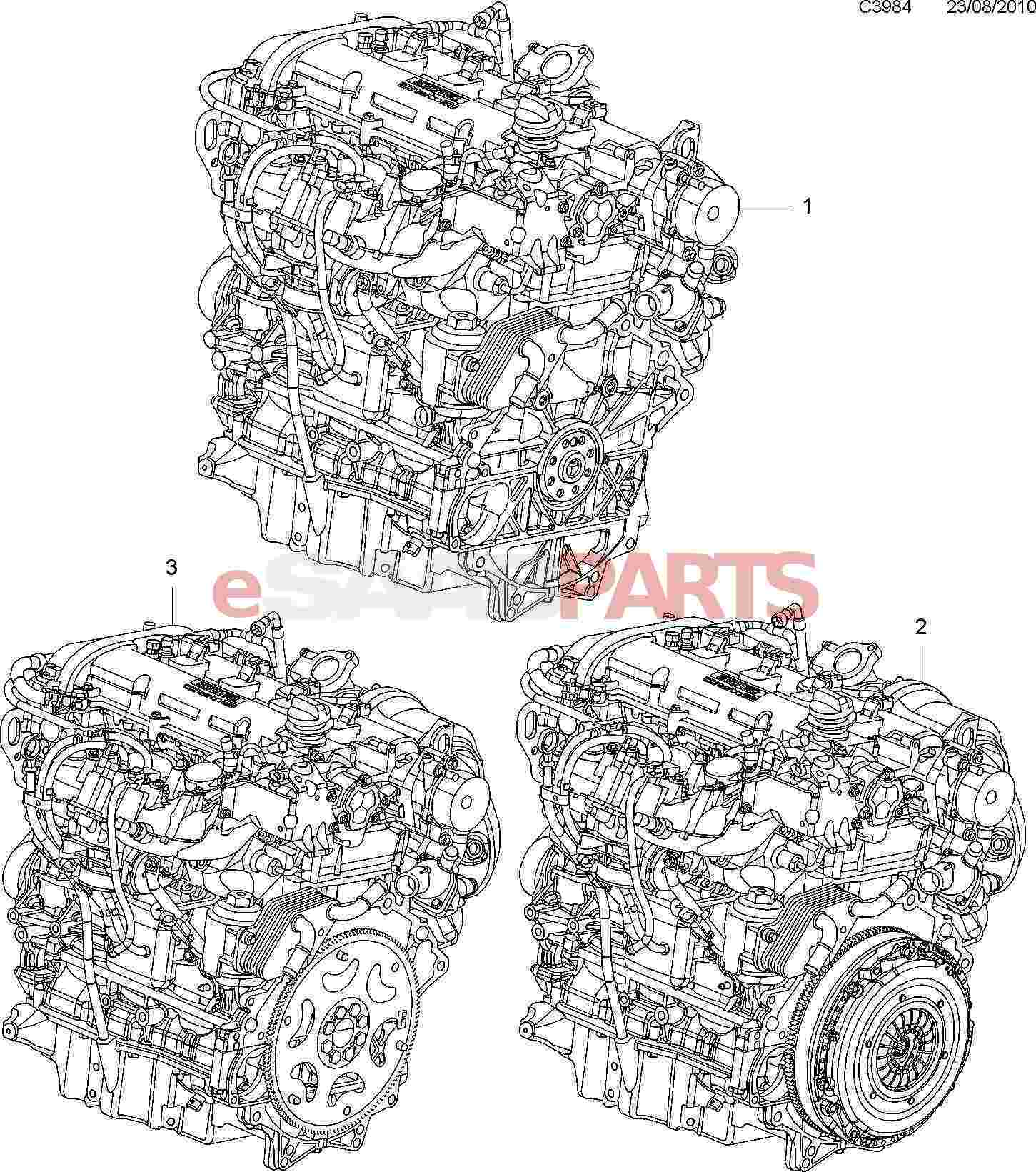Saab Engine Less Alternator