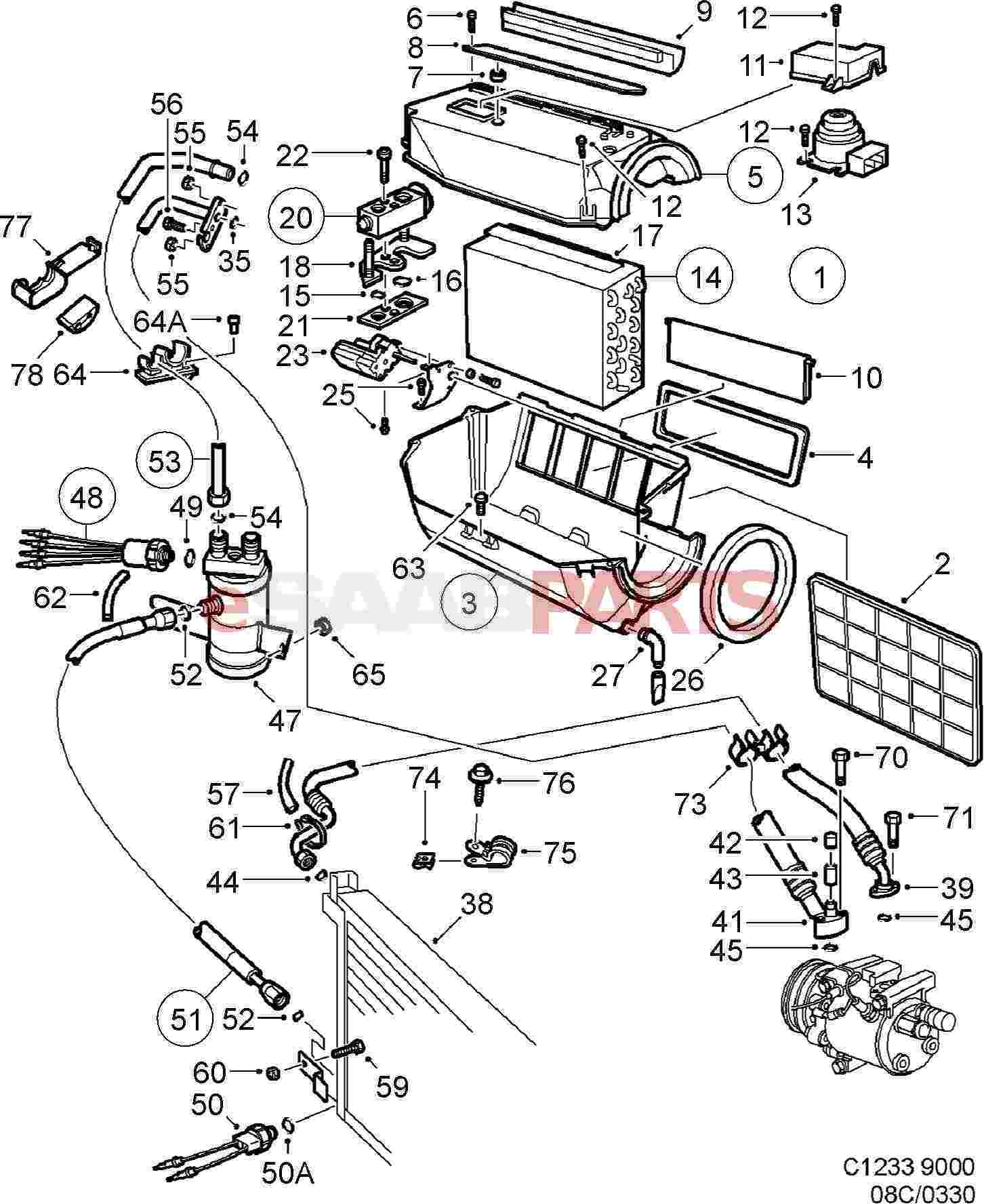 [WRG-9159] Saab 9000 Air Conditioning Wiring Diagram