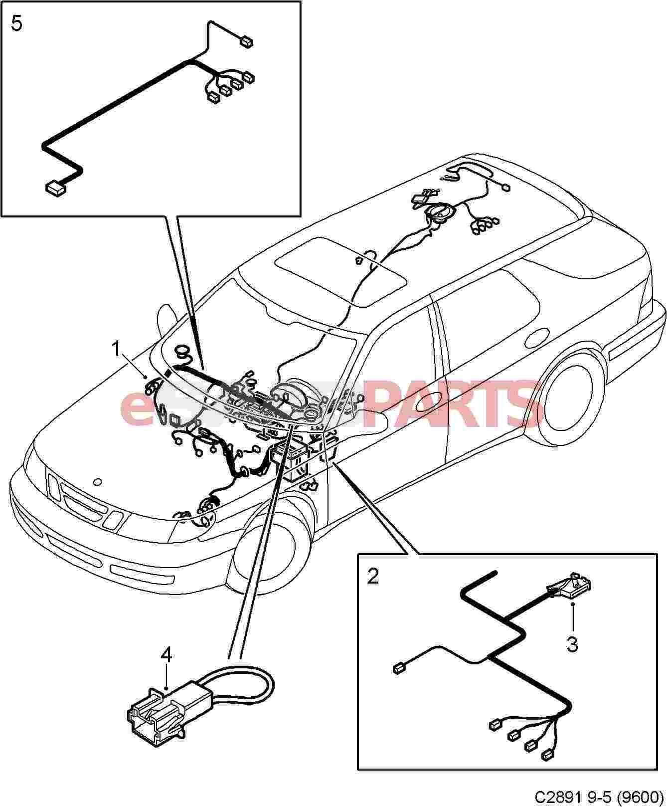 Saab Dashboard Wiring Harness