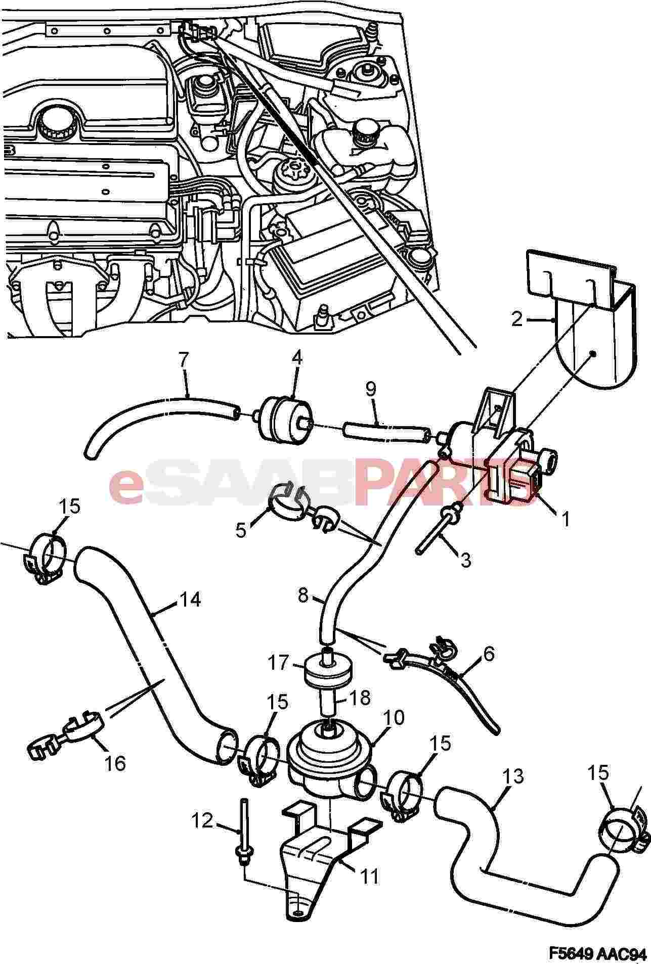 [90466214] SAAB Secondary Air Injection Control Valve