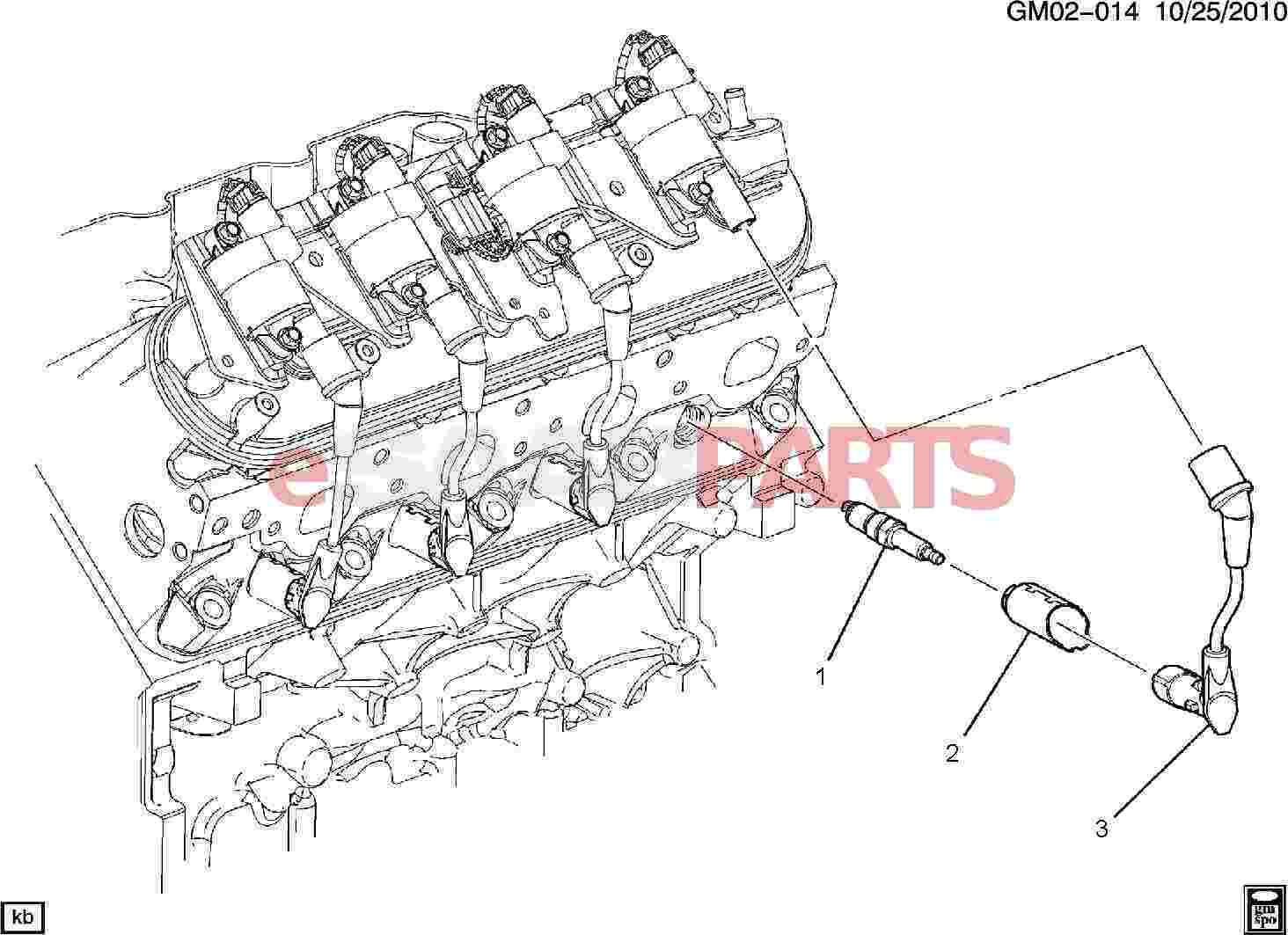 hight resolution of esaabparts com saab 9 7x electrical parts ignition components spark plug wiring 5 3m