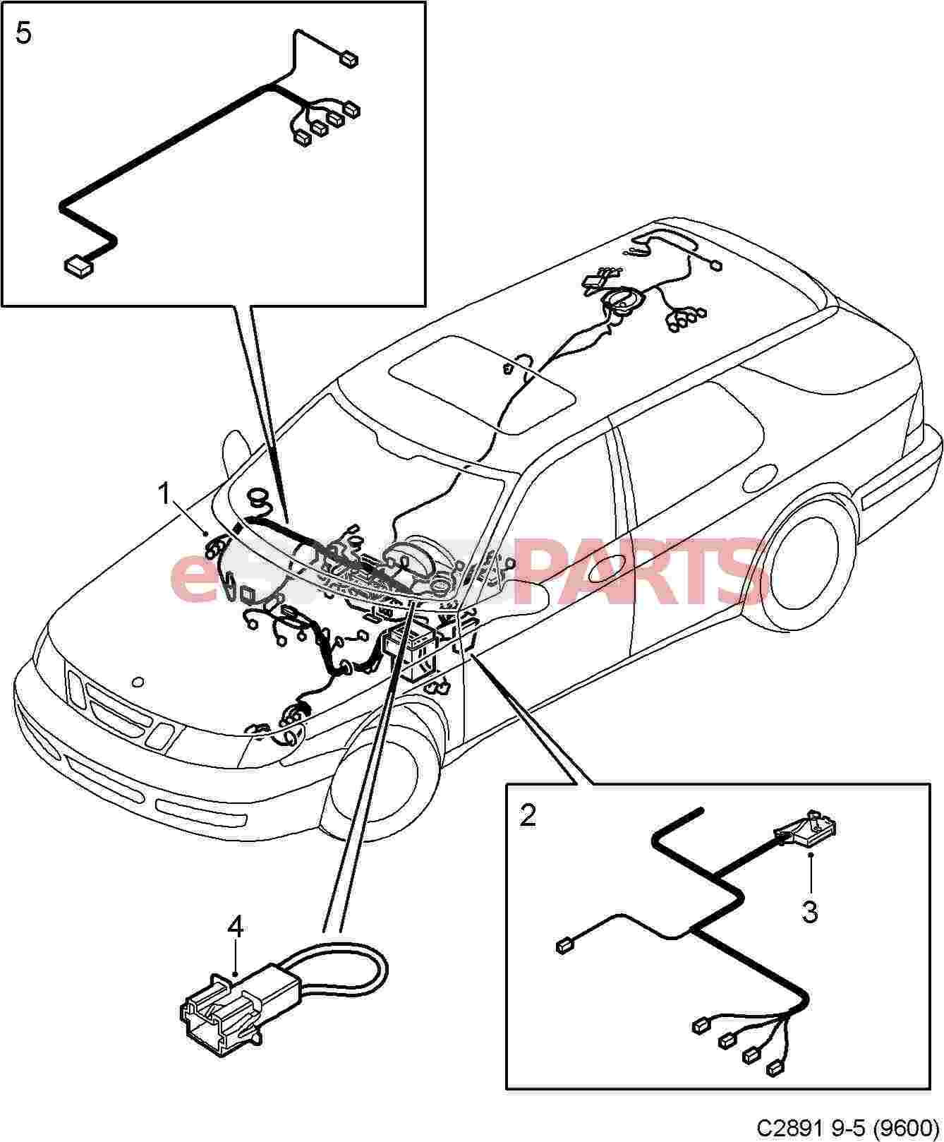Saab Dashboard Wiring Harness