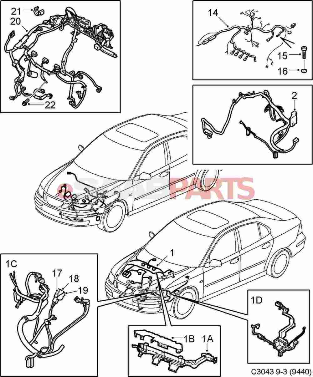 medium resolution of saab 9 3 2006 wiring harness