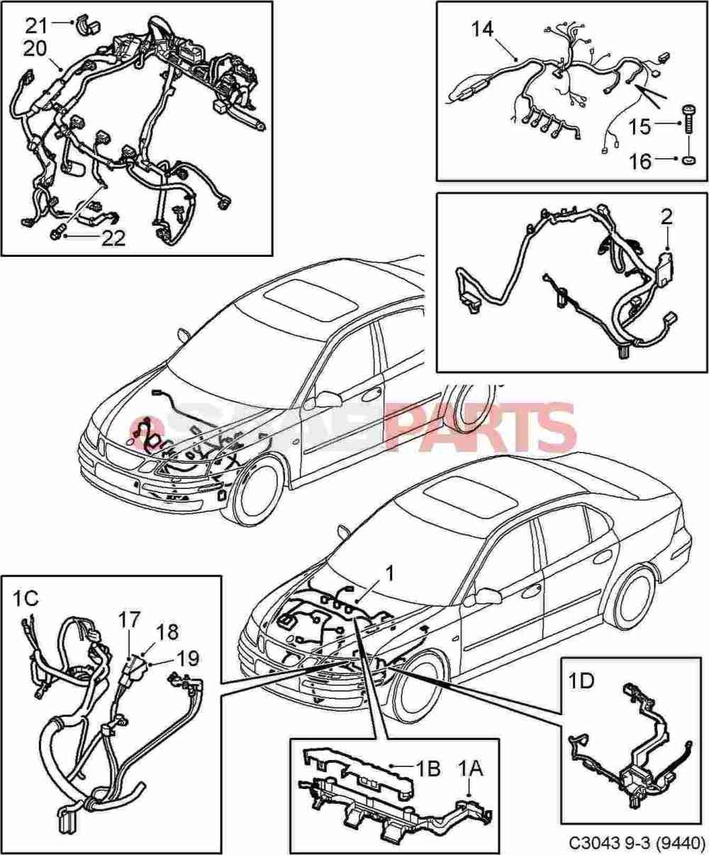 medium resolution of saab 9 3 2006 wiring harness wiring diagrams konsult esaabparts com saab 9 3 9440