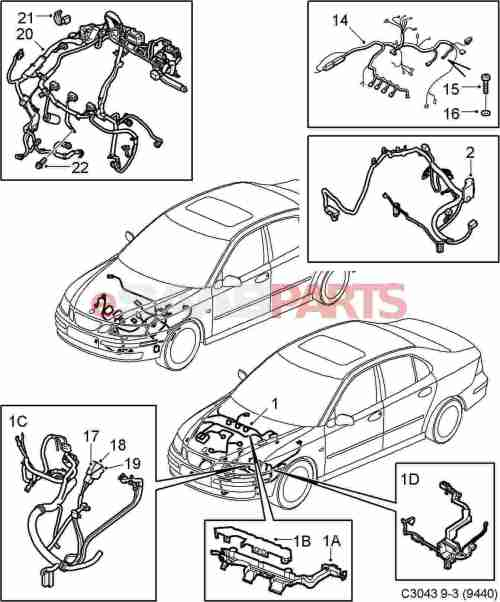 small resolution of saab 9 3 2006 wiring harness wiring diagrams konsult esaabparts com saab 9 3 9440