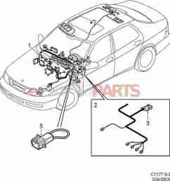 esaabparts com saab 9 5 9600 electrical parts wiring harness instrument panel [ 1313 x 1386 Pixel ]