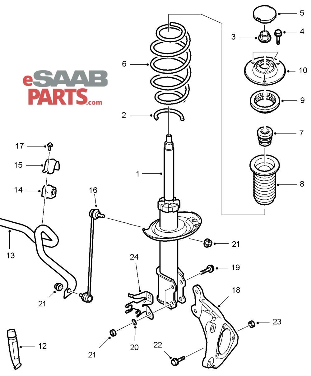 medium resolution of esaabparts com saab 9 3 9440 suspension wheels parts front suspension front suspension 06 11