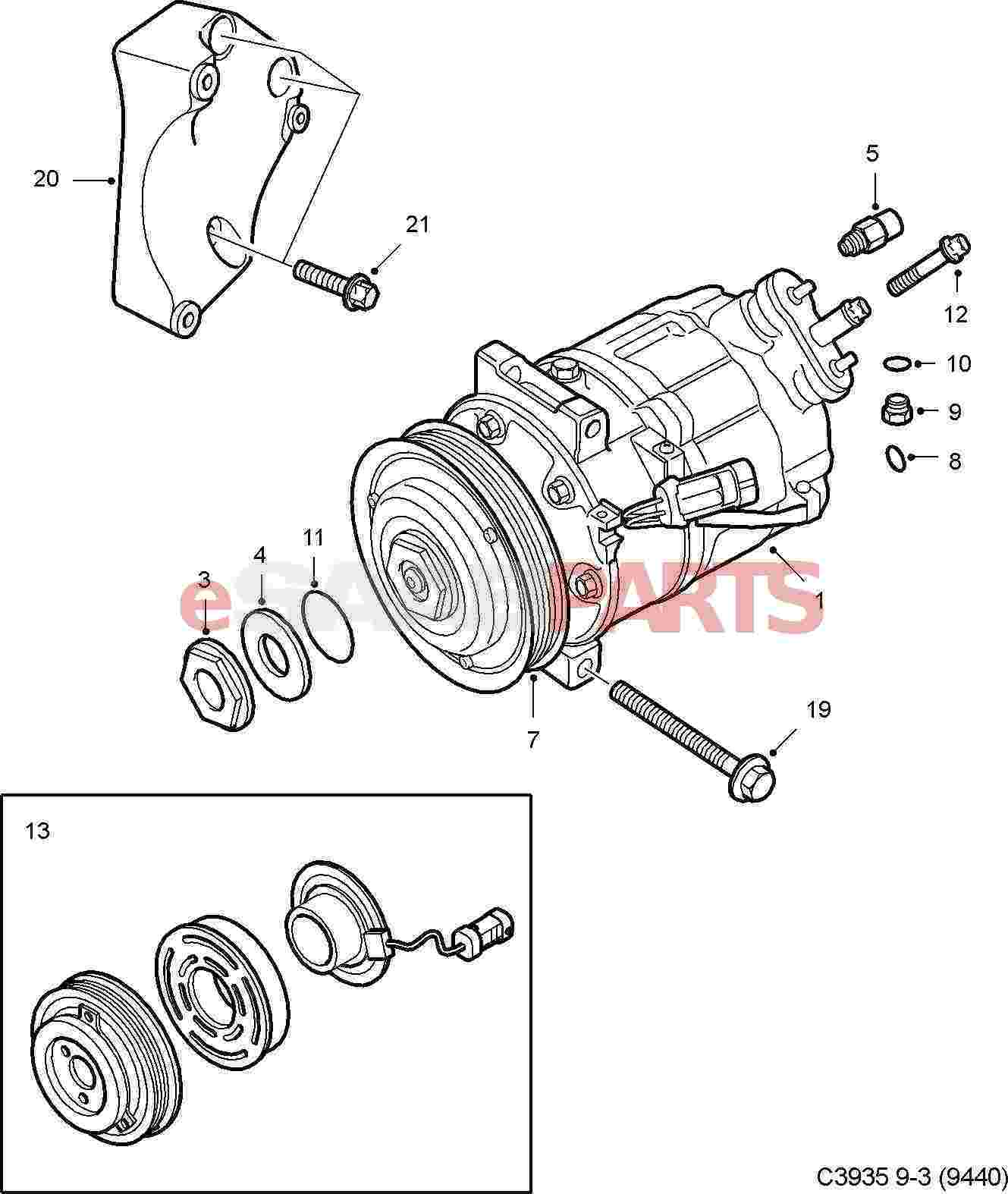 Ac Compressor Parts Diagram