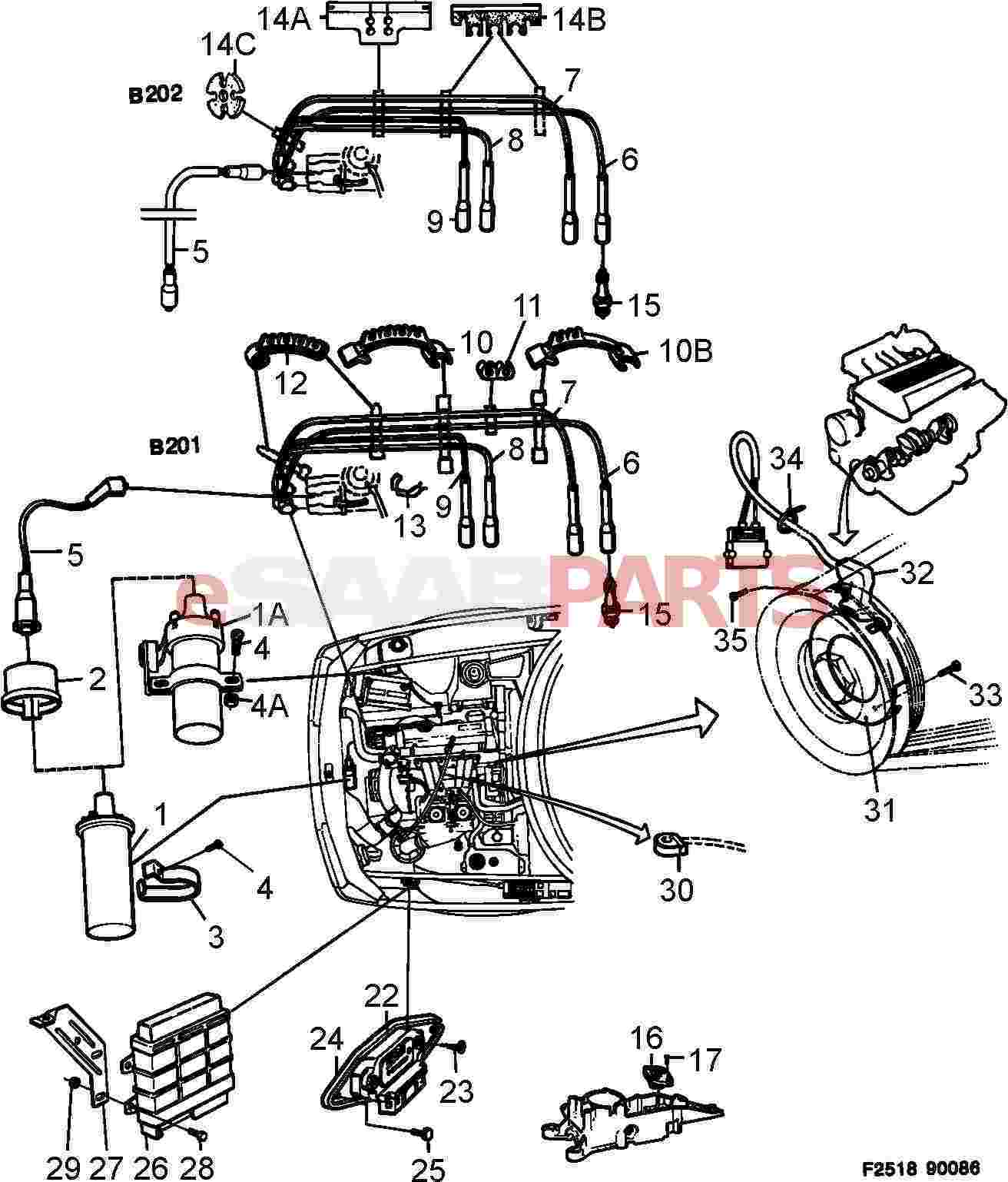 Saab 900 Convertible Wiring Three Wire Diagram Redcat 50cc