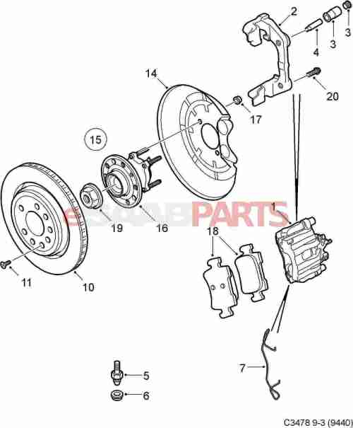 small resolution of saab brakes diagram online wiring diagram93172185 saab brake caliper right rear 292mm brakes genuinesaab brakes