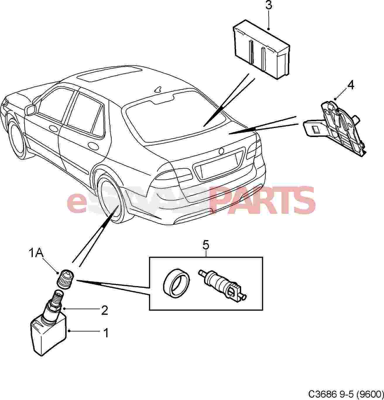 Saab Tire Pressure Sensor For Tpms