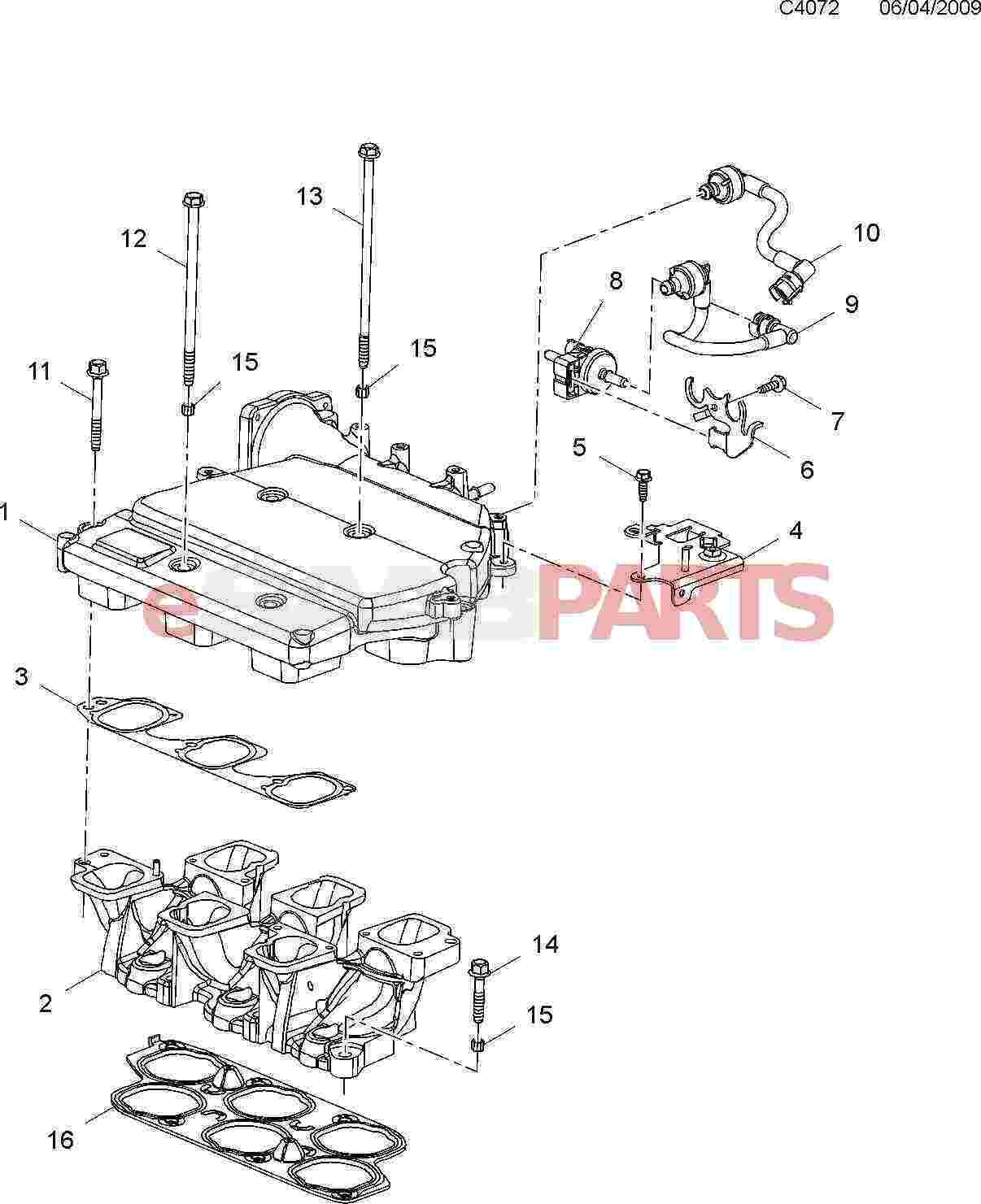 Saab Intake Manifold Gasket 2 8t