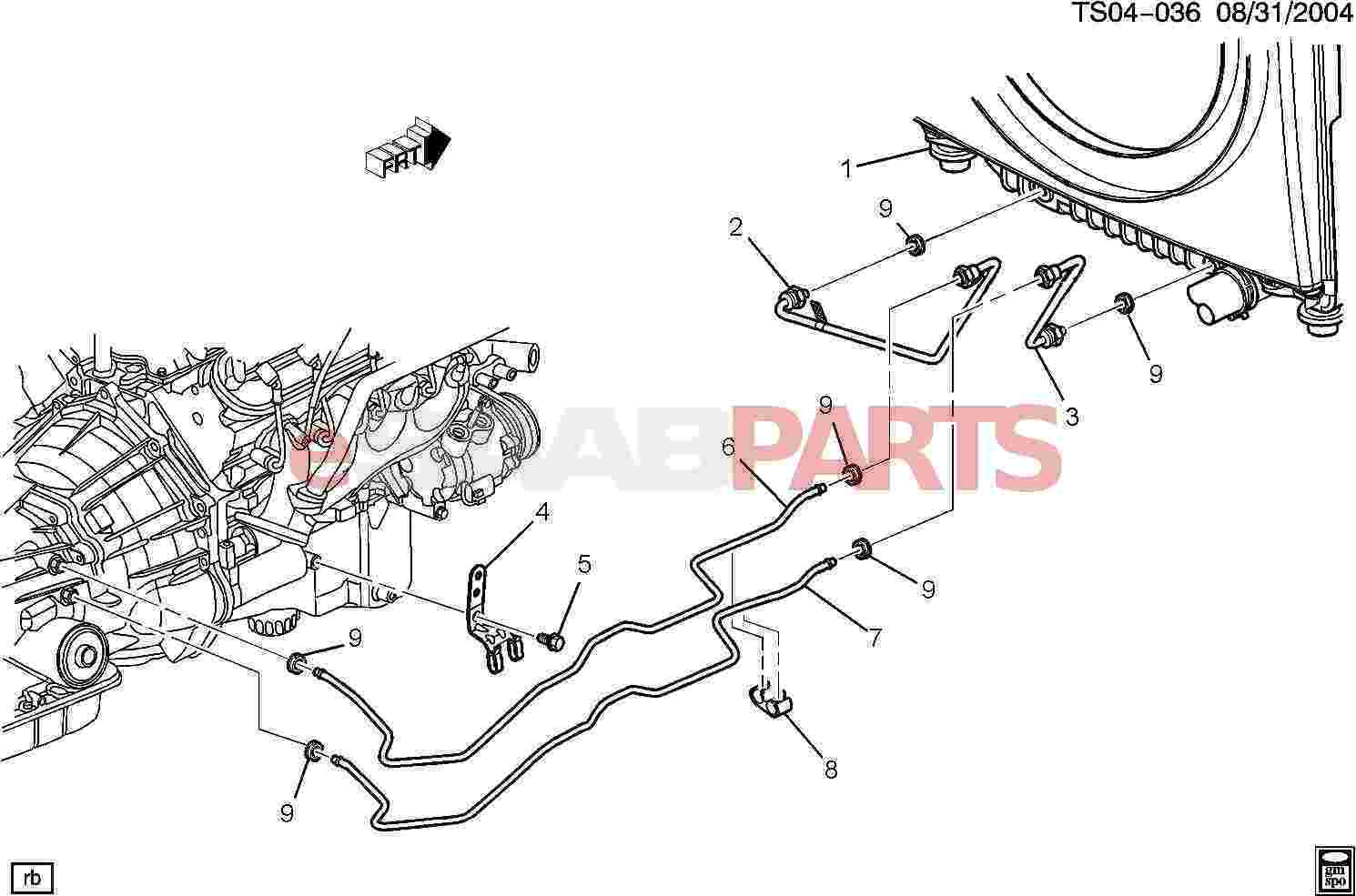 Service Manual Saab 9 7x Tranmission Cooling Line