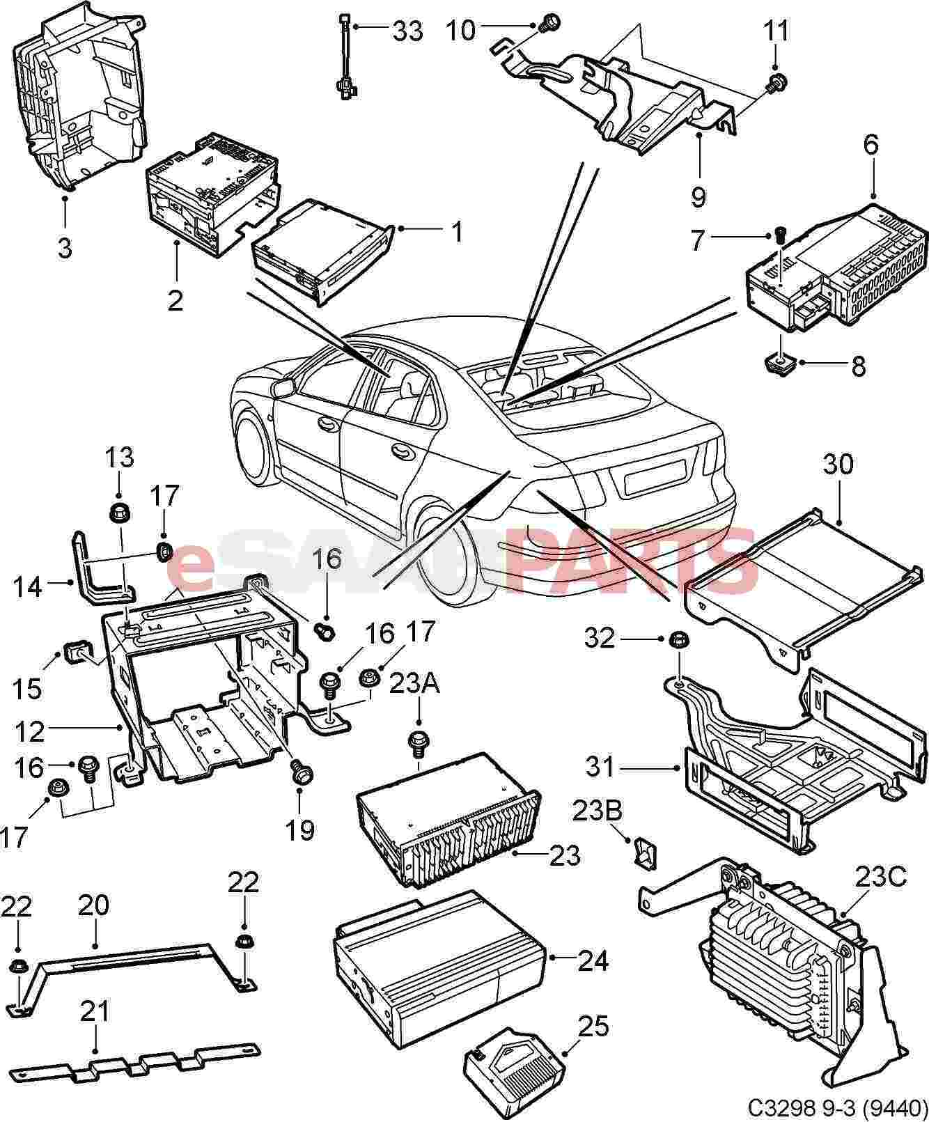 2004 Saab 9 3 Amp2 Wiring Diagram : 33 Wiring Diagram