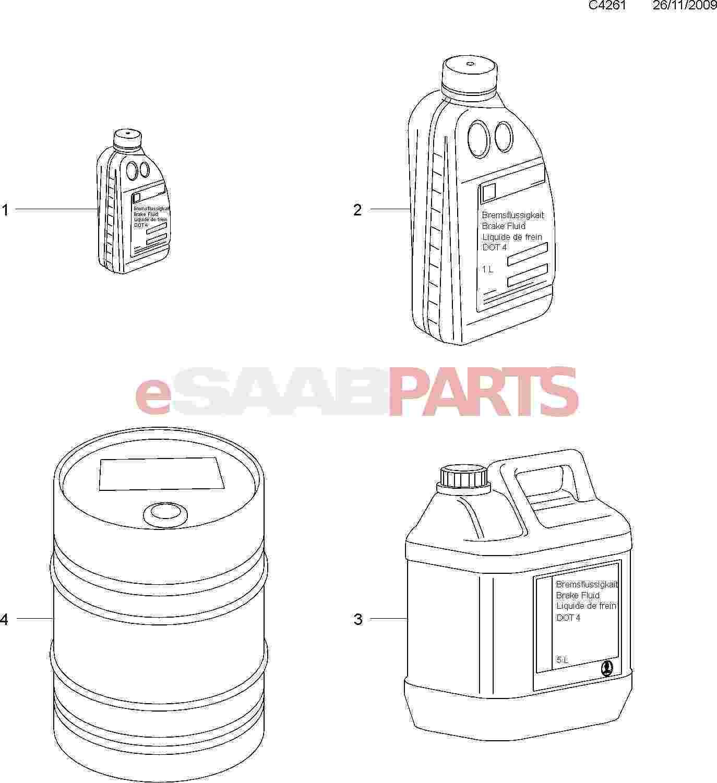 Saab Brake Fluid