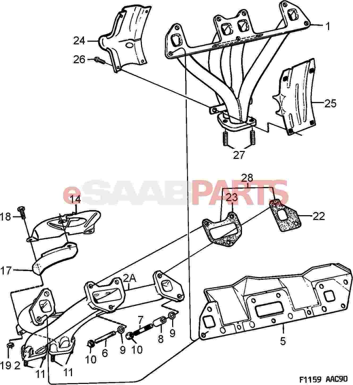Saab 900 Exhaust Diagram