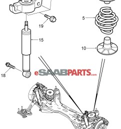 90538496 saab spring support rear genuine saab parts from saab 9 5 front suspension diagram saab suspension diagram [ 1798 x 2422 Pixel ]