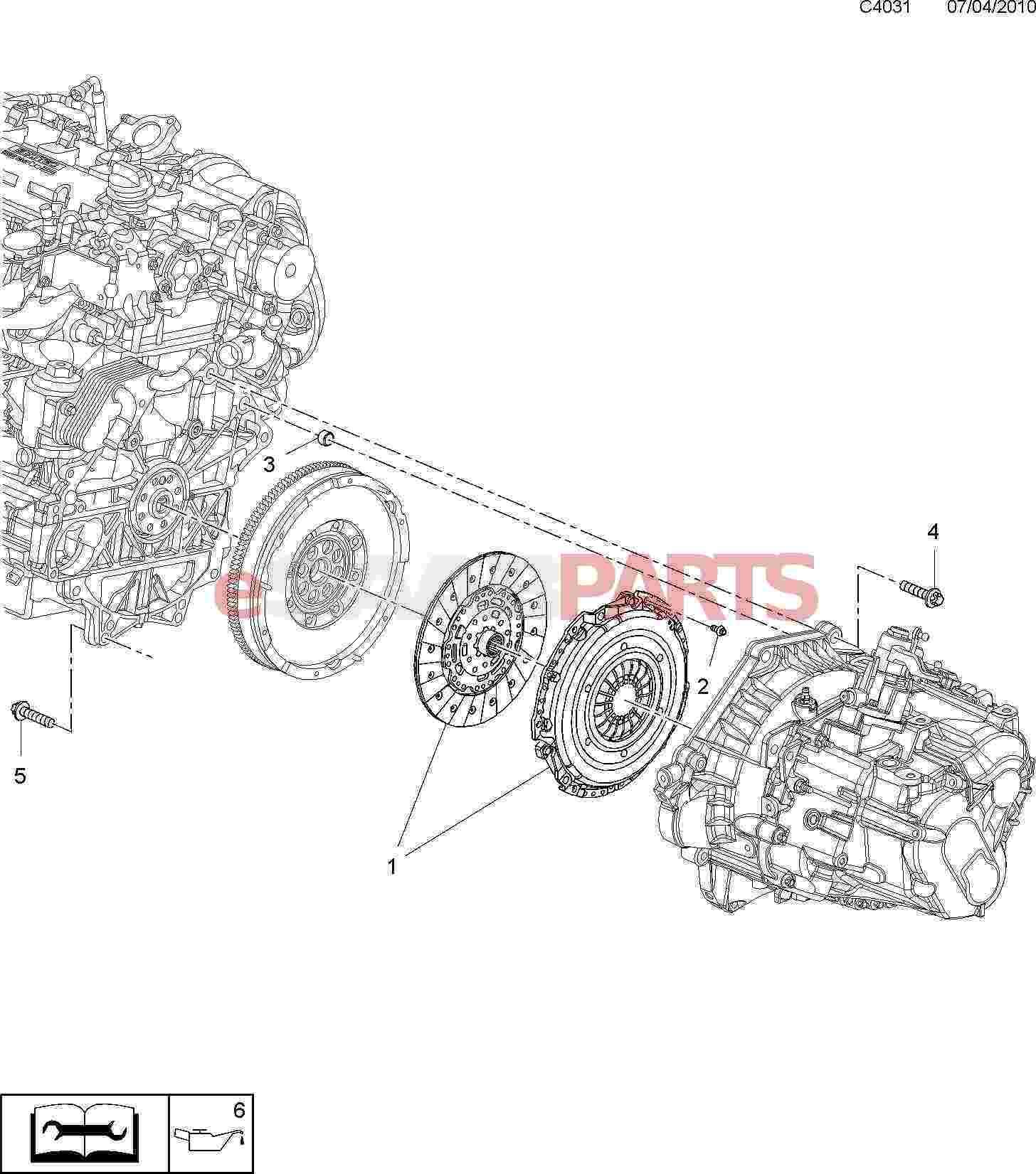 [55581277] SAAB Clutch Kit (9-3 XWD 6-Speed, 9-5NG 2010
