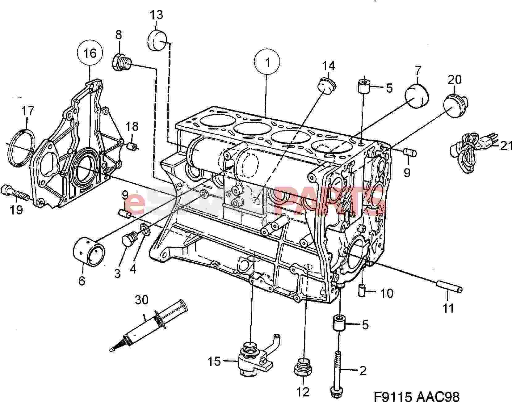 saab 9 3 engine diagram blank skeletal 7985120 sealing washer genuine parts from