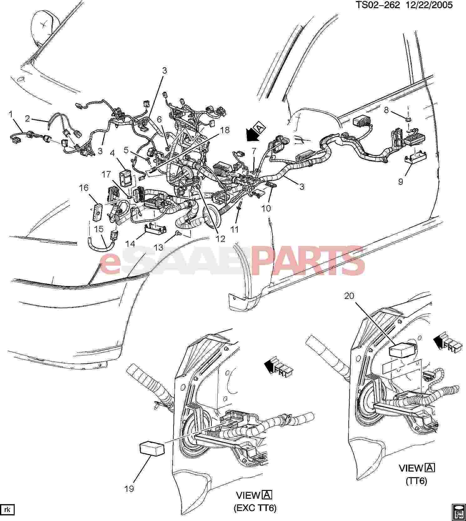 Saab Harness I P Wrg