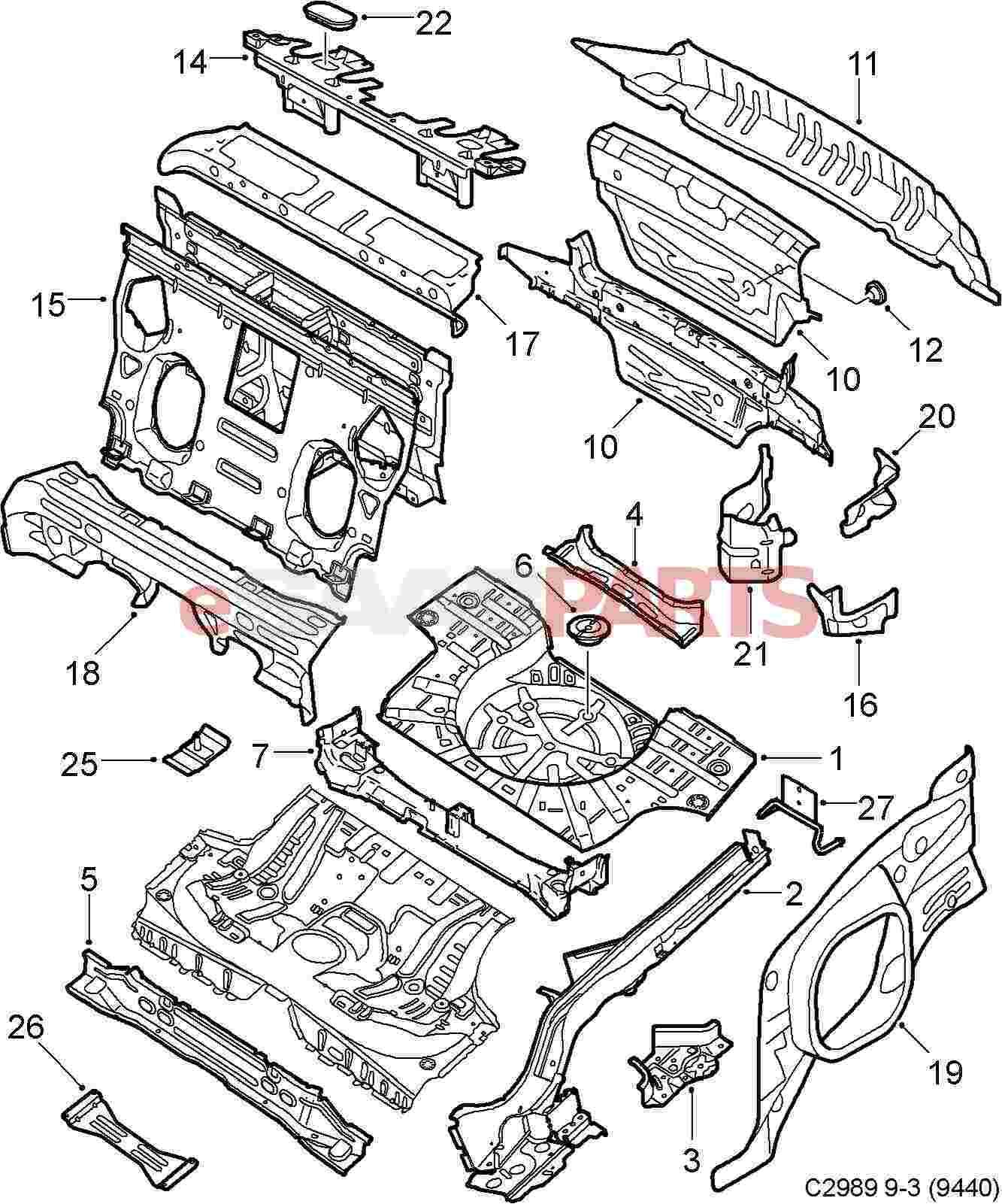 Parts Of A Car Body Frame