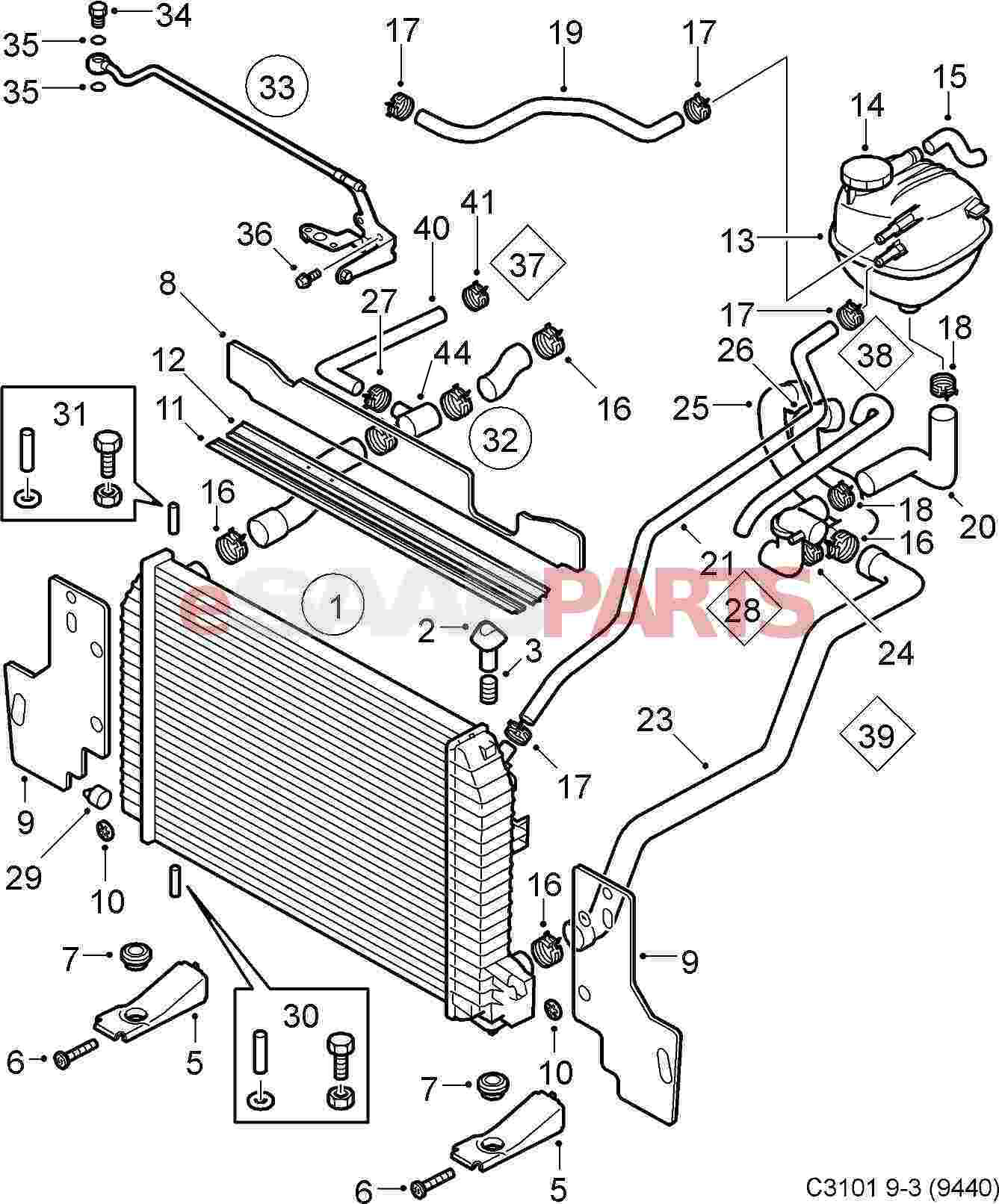 hight resolution of saab cooling system diagram detailed wiring diagram rh 7 6 ocotillo paysage com saab 9 5 engine diagram saab diagram sohc