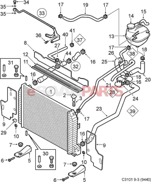 small resolution of saab cooling system diagram detailed wiring diagram rh 7 6 ocotillo paysage com saab 9 5 engine diagram saab diagram sohc