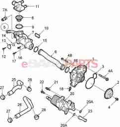 esaabparts com saab 9 3 9440 engine parts water pump thermostat water pump thermostat b207  [ 1333 x 1574 Pixel ]