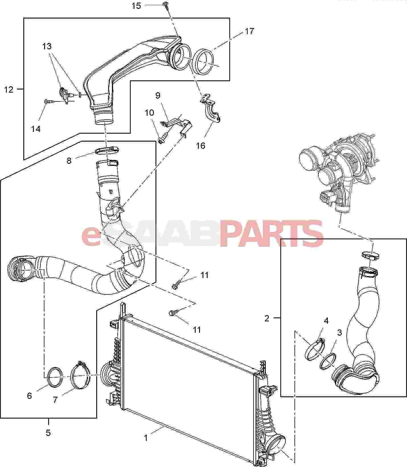Saab Pressure Temperature Sensor