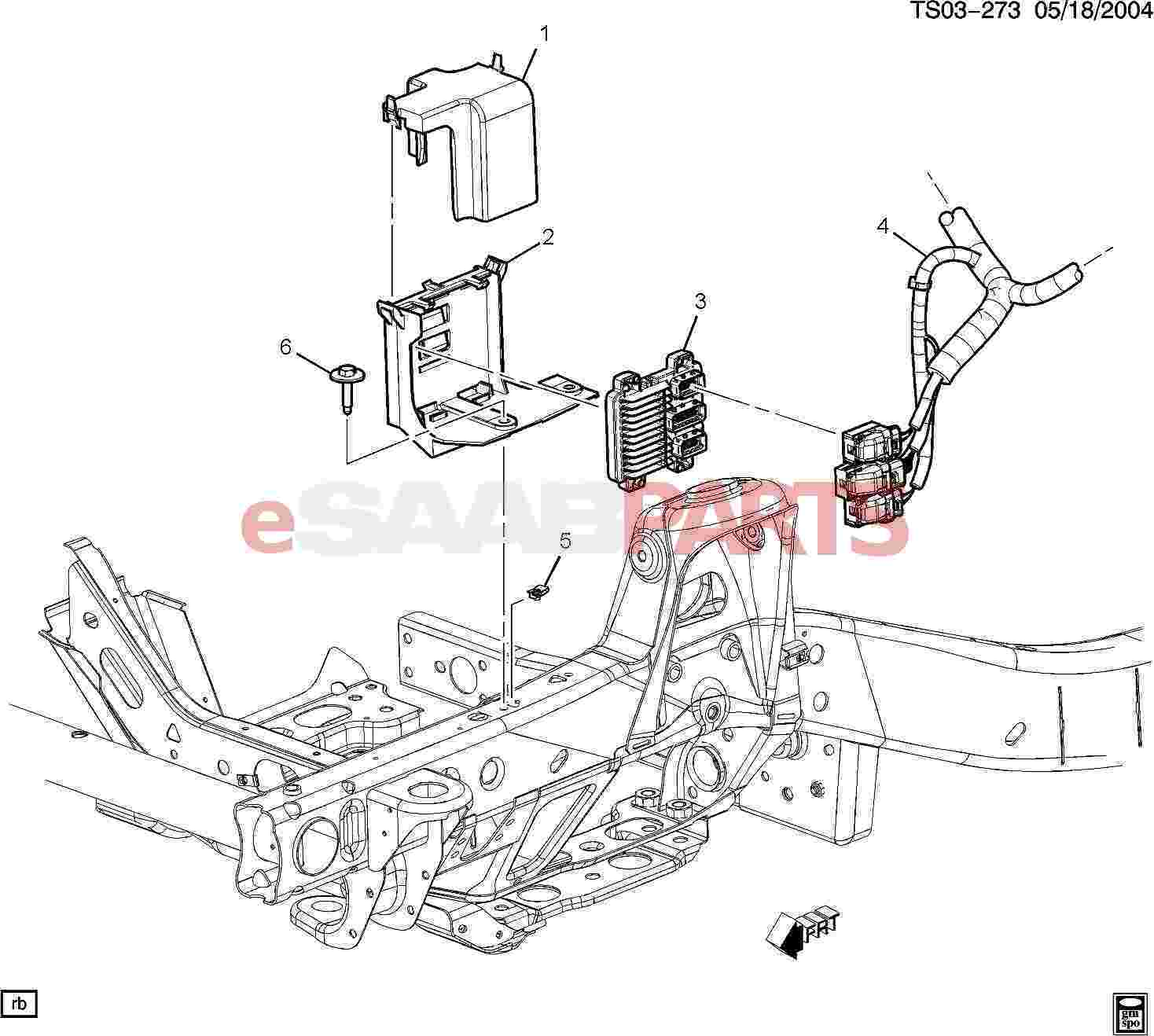 hight resolution of esaabparts com saab 9 7x electrical parts electronic modules e c m module wiring harness 5 3m