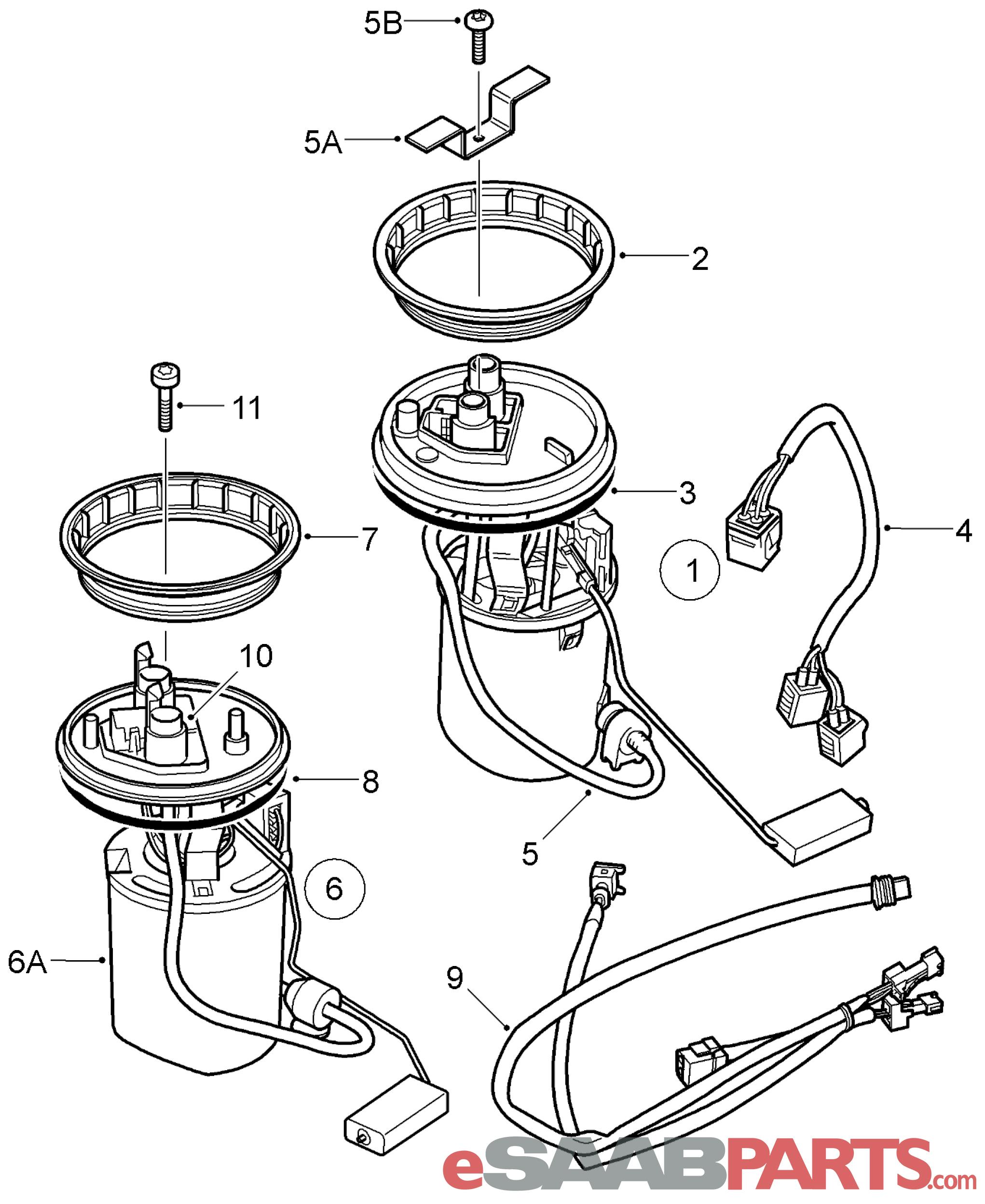 Saab 9 3 Fuel Pump