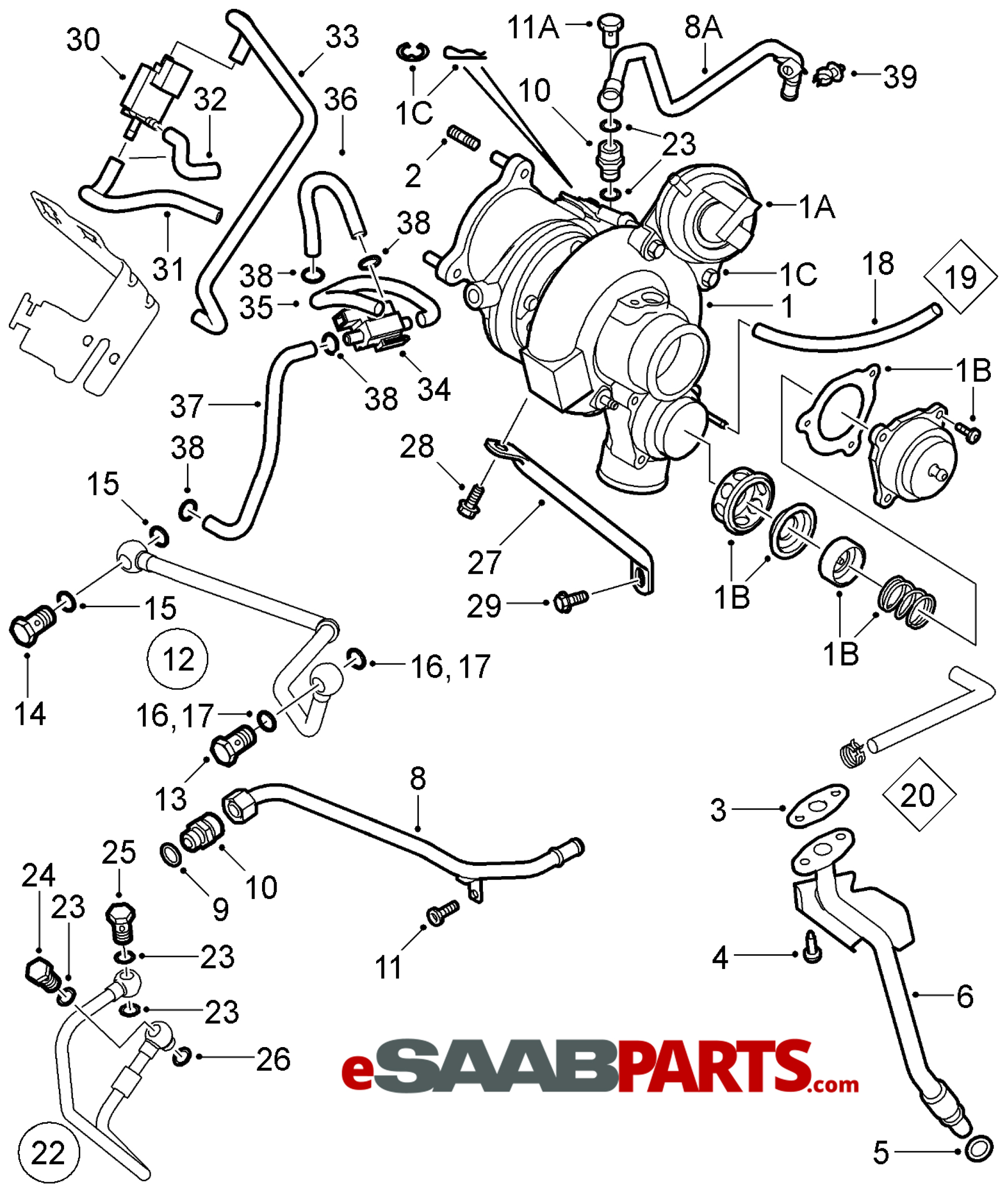 Saab 2 3 Turbo Engine Diagram