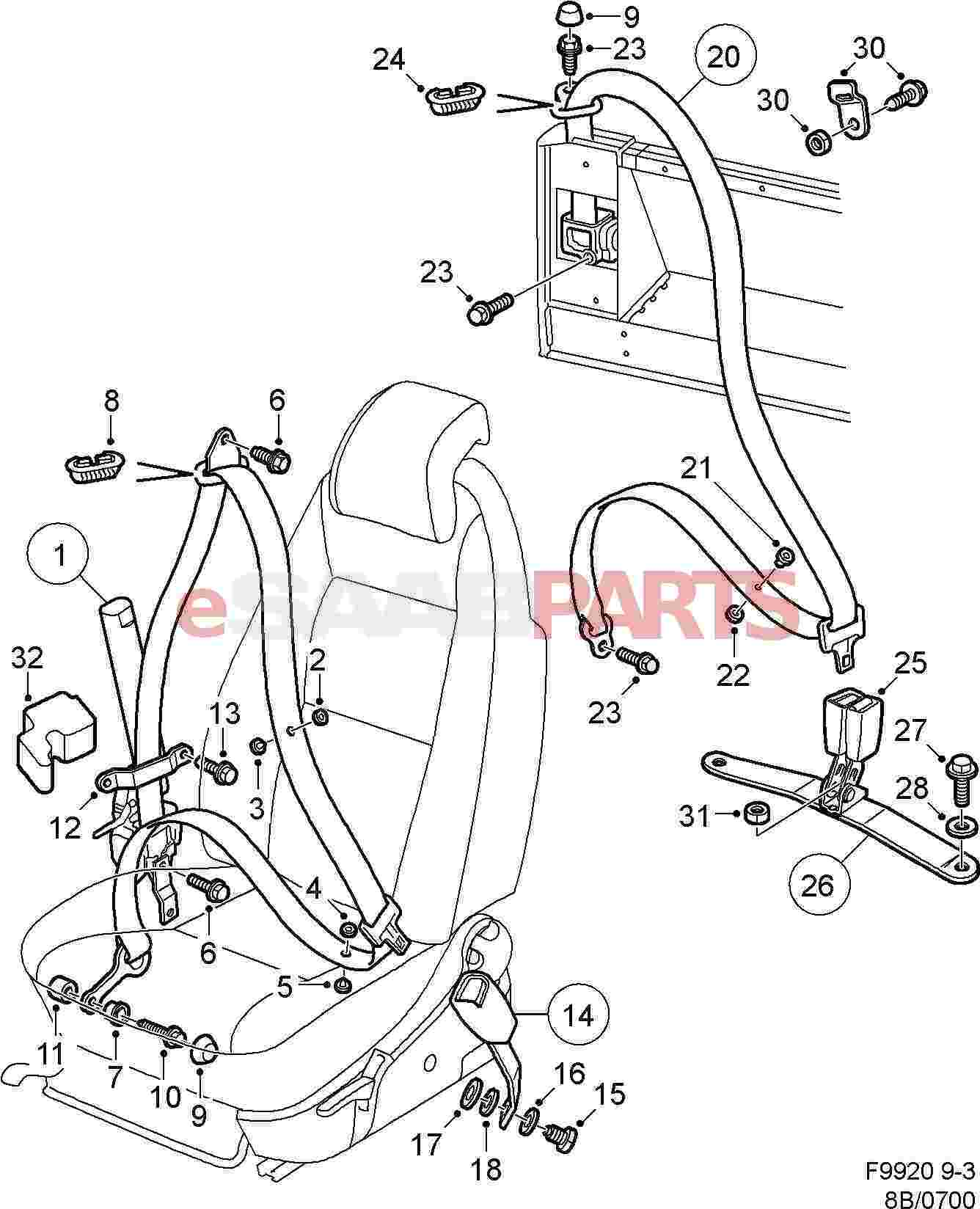 Saab Seat Belt