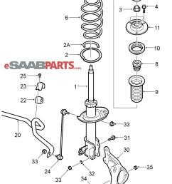 esaabparts com saab 9 3 9440 suspension wheels parts front suspension front suspension 03 05  [ 2033 x 2437 Pixel ]