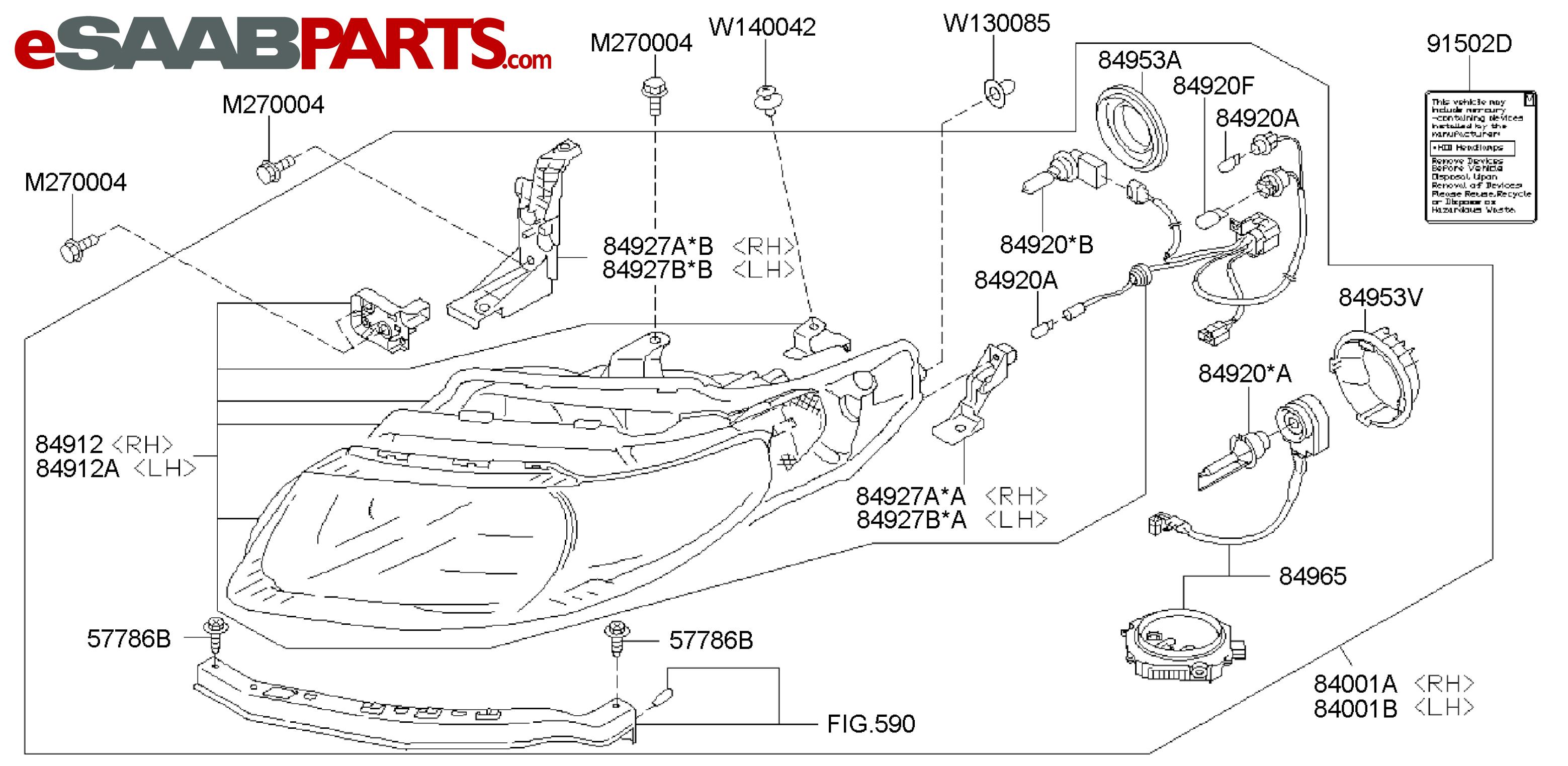 Saab Headlight Wiring Diagram