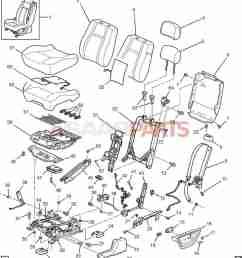 esaabparts com saab 9 7x car body internal parts seat assembly driver seat bucket [ 1493 x 1675 Pixel ]