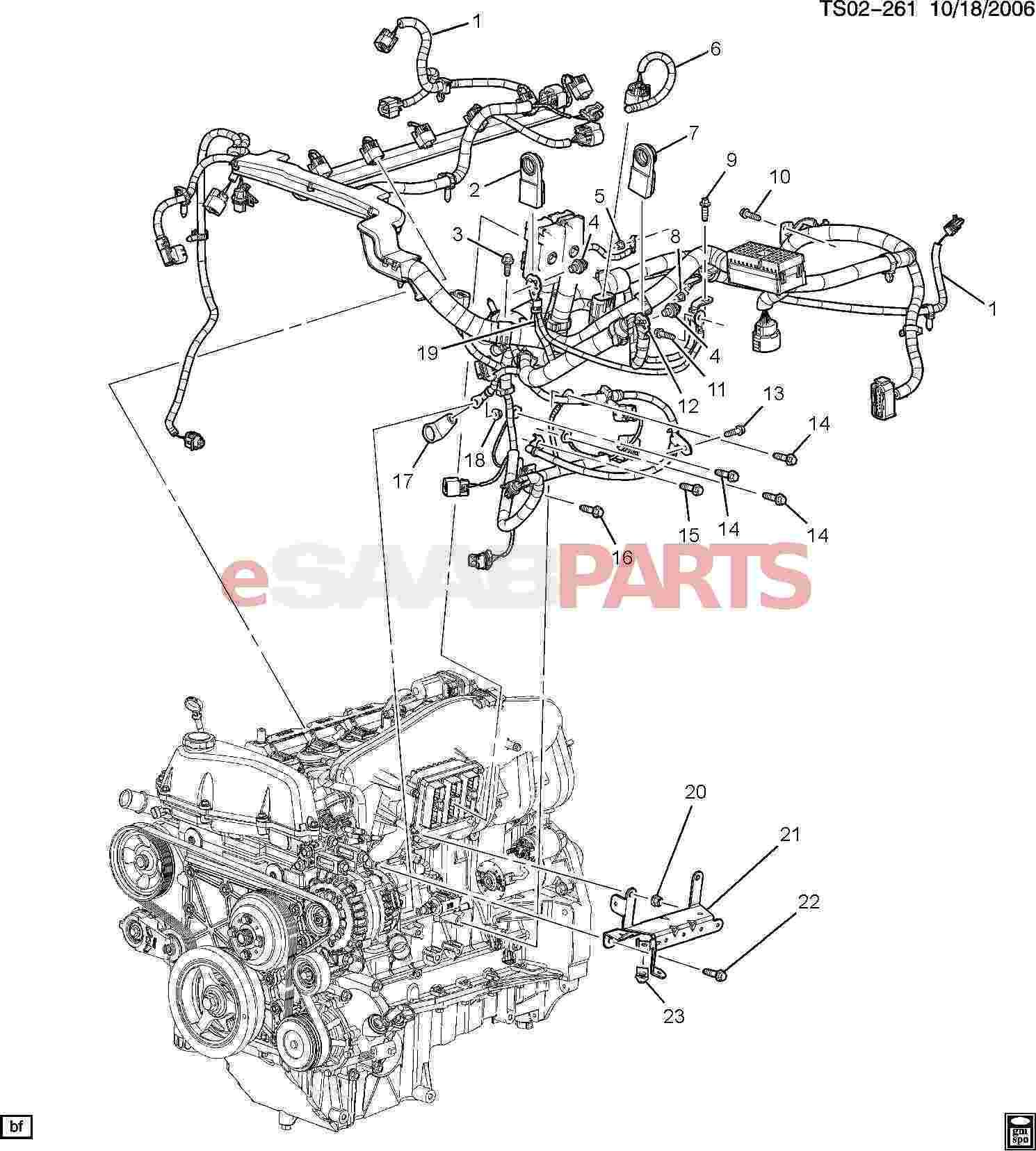 Saab Bracket Engine Wiring Harness Clip