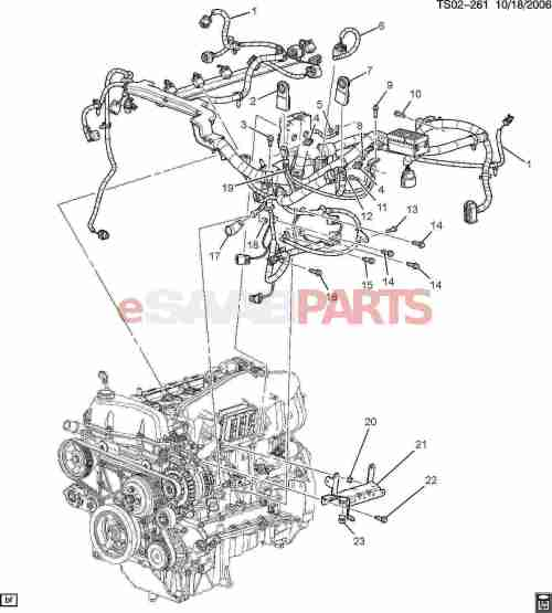 small resolution of esaabparts com saab 9 7x electrical parts wiring harness wiring harness engine 4 2s