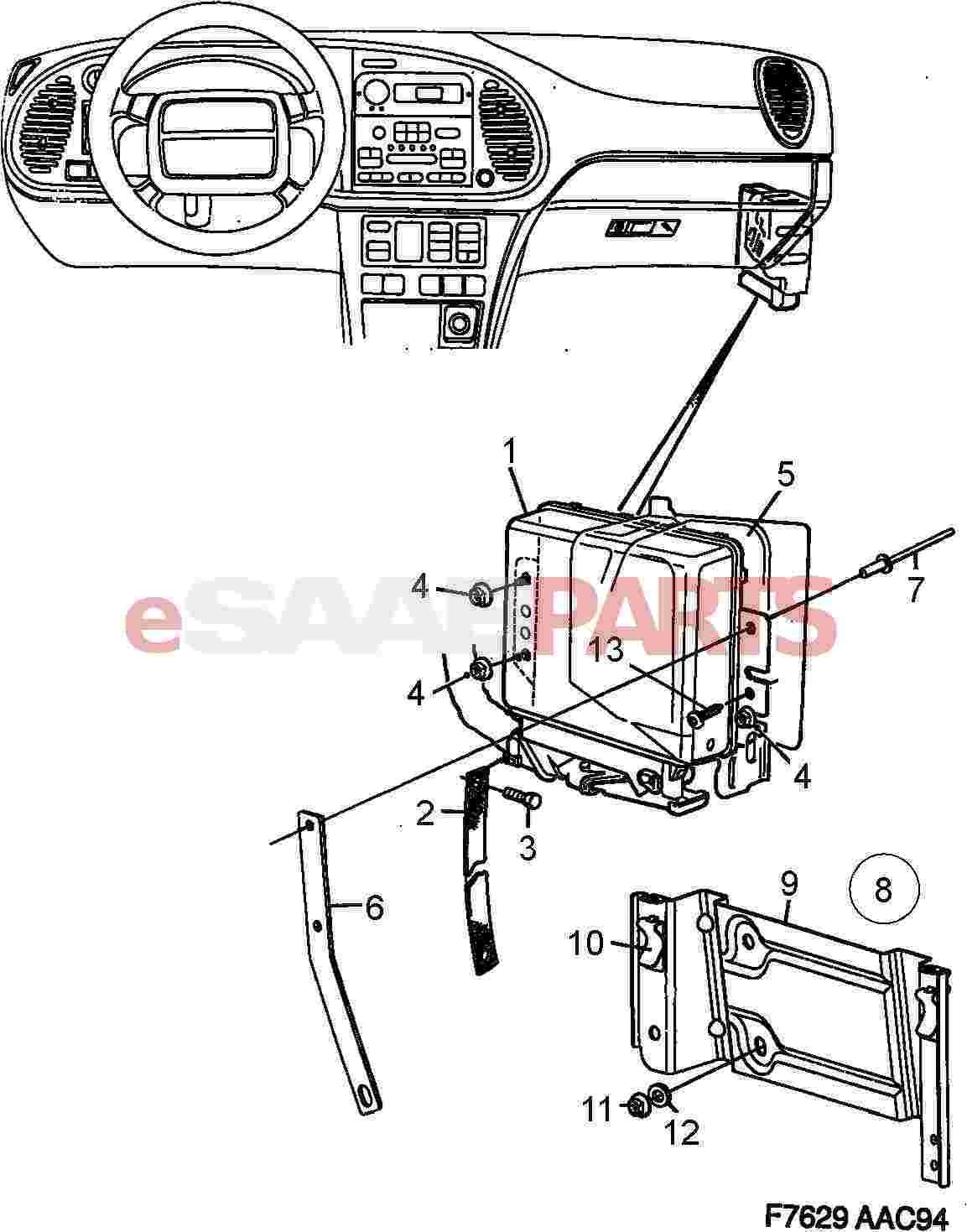 Saab Engine Control Module