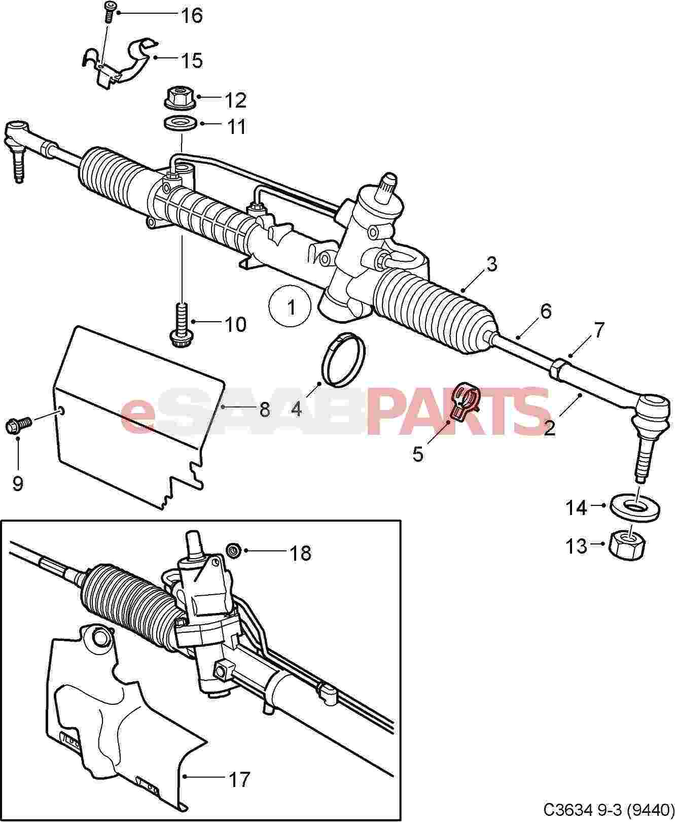 Power Steering Rack Assembly Diagram