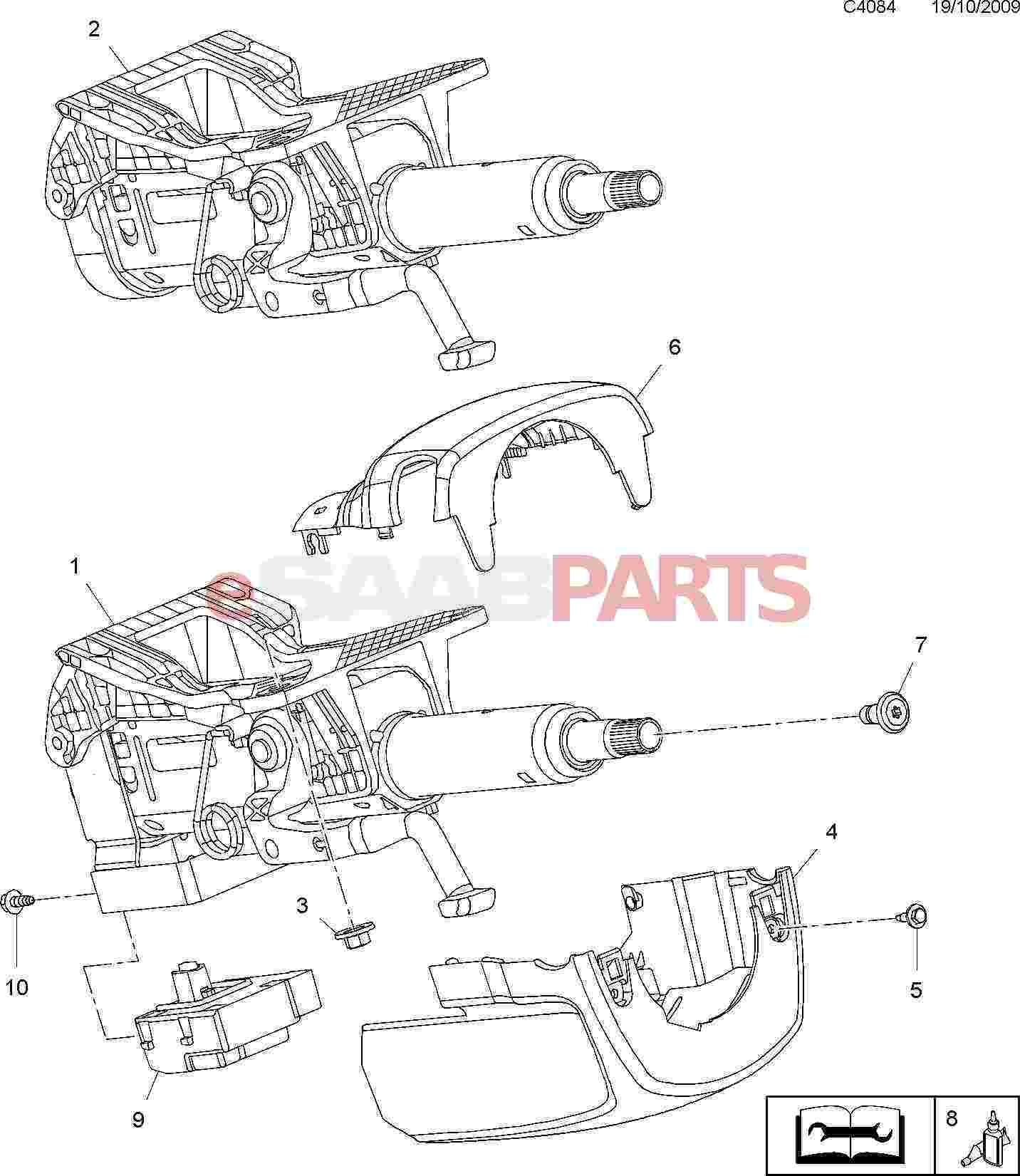 Service manual [2009 Saab 9 7x Remove Engine Assembly