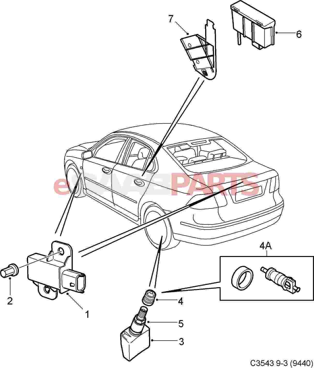 Saab Tire Pressure Sensor Tpms 9 3 Only