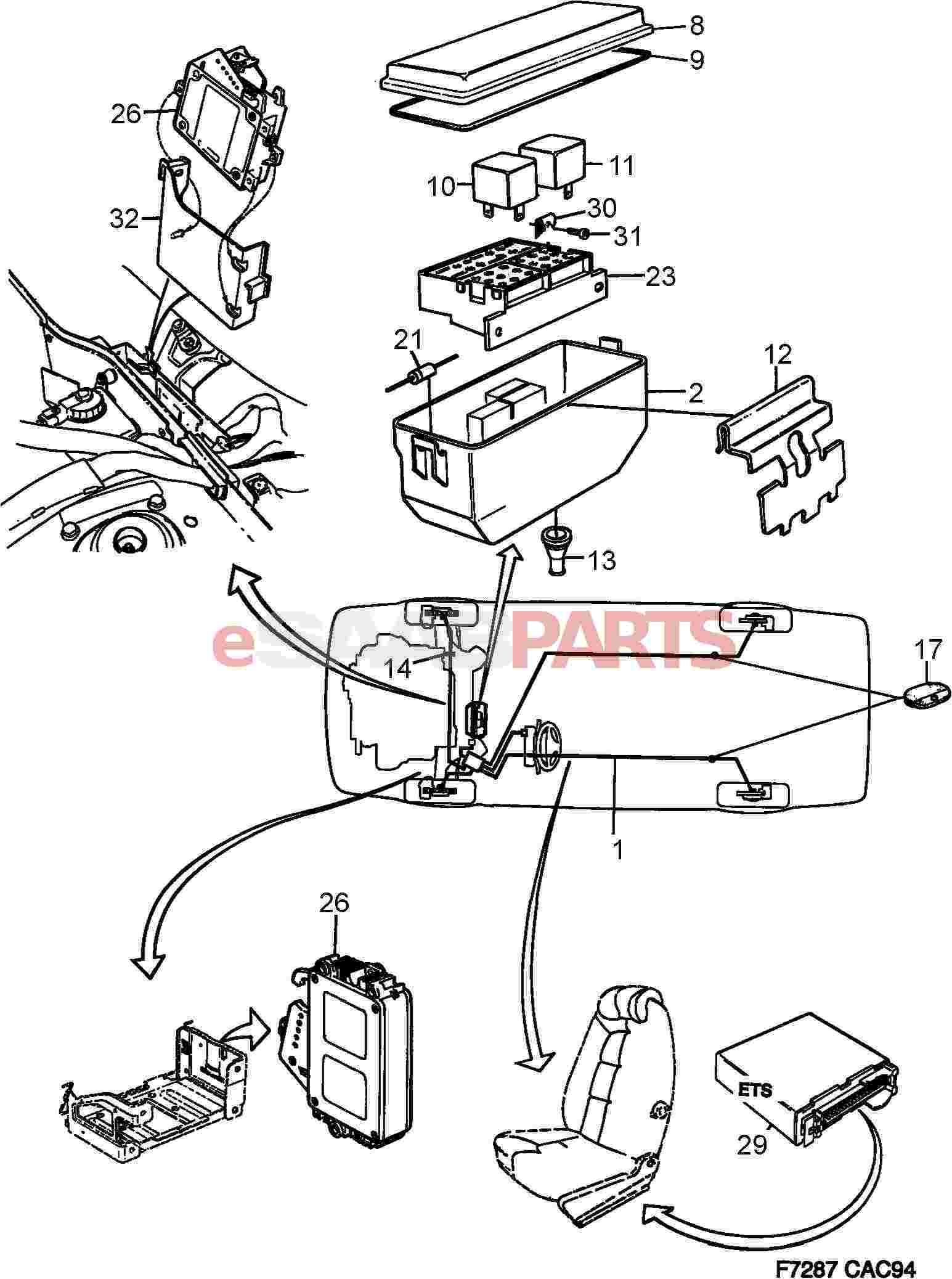 Saab Electronic Unit